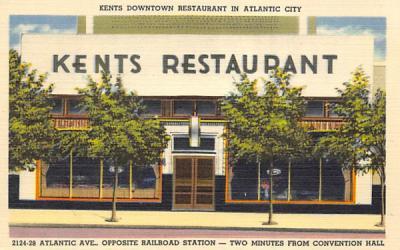 Kents Downtown Restaurant  Atlantic City, New Jersey Postcard