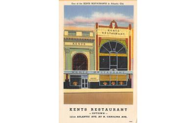 Kents Restaurant Atlantic City, New Jersey Postcard