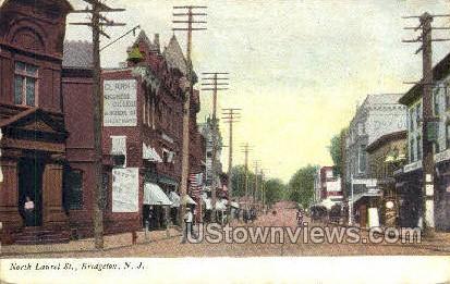 North Laurel Street - Bridgeton, New Jersey NJ Postcard