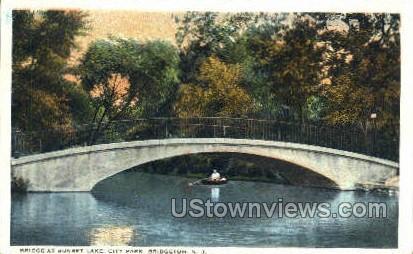Bridge At Sunset Lake  - Bridgeton, New Jersey NJ Postcard