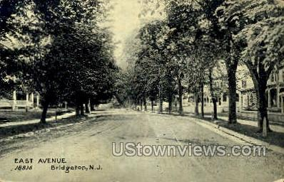 East Avenue  - Bridgeton, New Jersey NJ Postcard