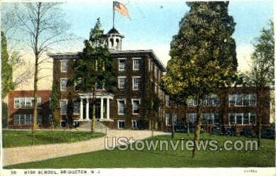 High School  - Bridgeton, New Jersey NJ Postcard