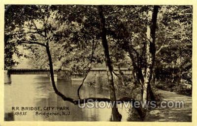 Rr Bridge City Park  - Bridgeton, New Jersey NJ Postcard