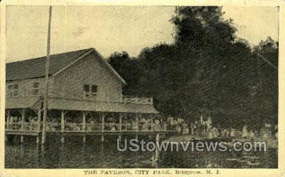 The Pavilion City Park  - Bridgeton, New Jersey NJ Postcard