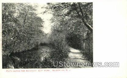 Path Along The Raceway - Bridgeton, New Jersey NJ Postcard