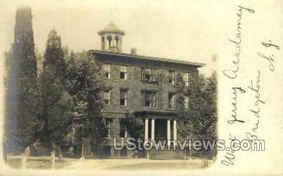 West Jersey Academy, Real Photo - Bridgeton, New Jersey NJ Postcard
