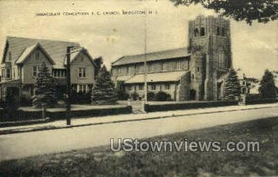 Immaculate Conception Rc Church  - Bridgeton, New Jersey NJ Postcard