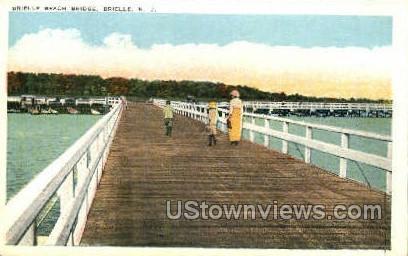 Brielle Beach Bridge  - New Jersey NJ Postcard