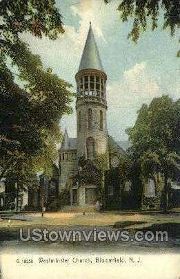 Westminster Church  - Bloomfield, New Jersey NJ Postcard