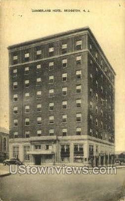 Cumberland Hotel  - Bridgeton, New Jersey NJ Postcard