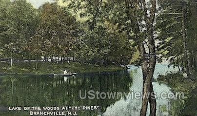 Lake Of The Woods  - Branchville, New Jersey NJ Postcard
