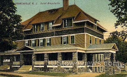 Hotel    - Branchville, New Jersey NJ Postcard