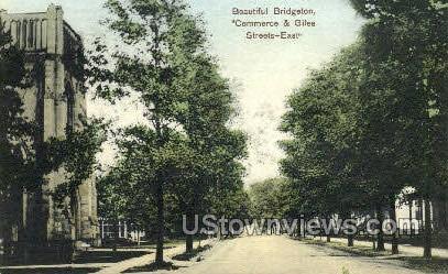 Commerce And Giles Street - Bridgeton, New Jersey NJ Postcard