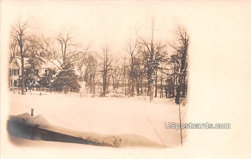 Winter Scene - Bridgeton, New Jersey NJ Postcard