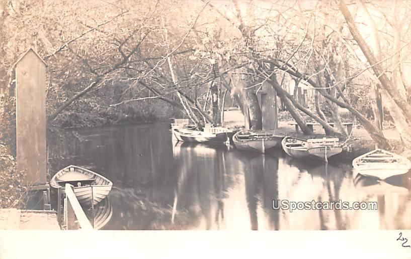 Boats in Water - Bridgeton, New Jersey NJ Postcard