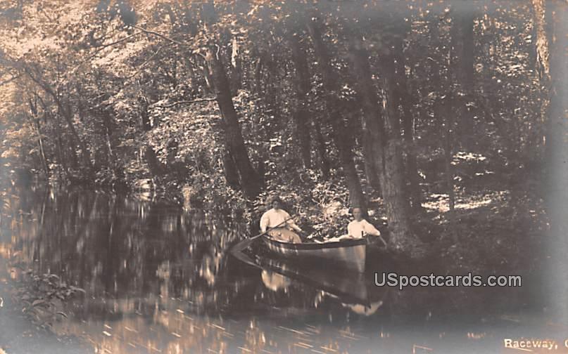 Women in Boat - Bridgeton, New Jersey NJ Postcard