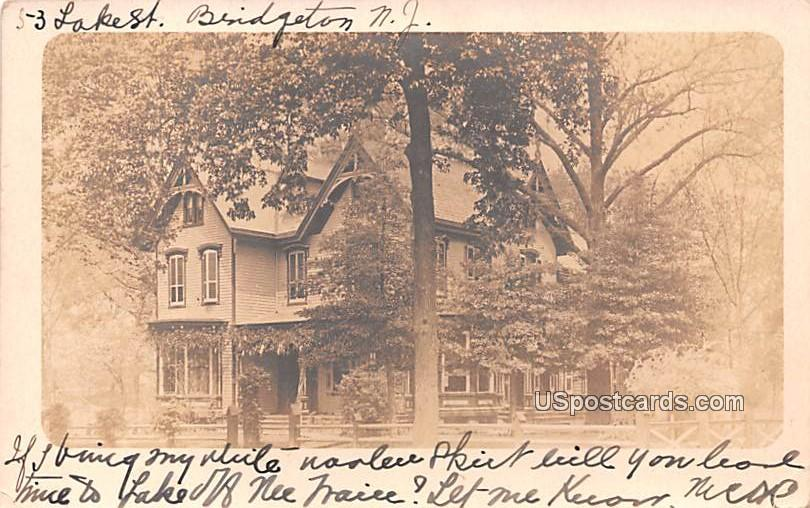 Lake Street - Bridgeton, New Jersey NJ Postcard