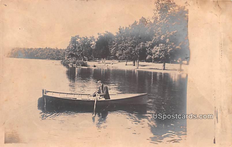 Man on Boat - Bridgeton, New Jersey NJ Postcard
