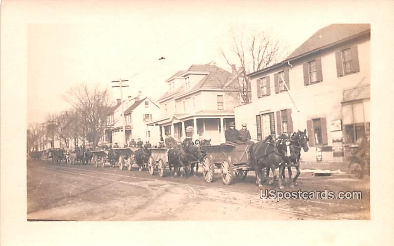 Horses and Carriages - Bridgeton, New Jersey NJ Postcard