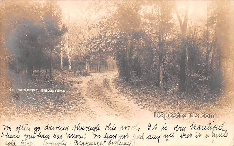 Park Drive - Bridgeton, New Jersey NJ Postcard