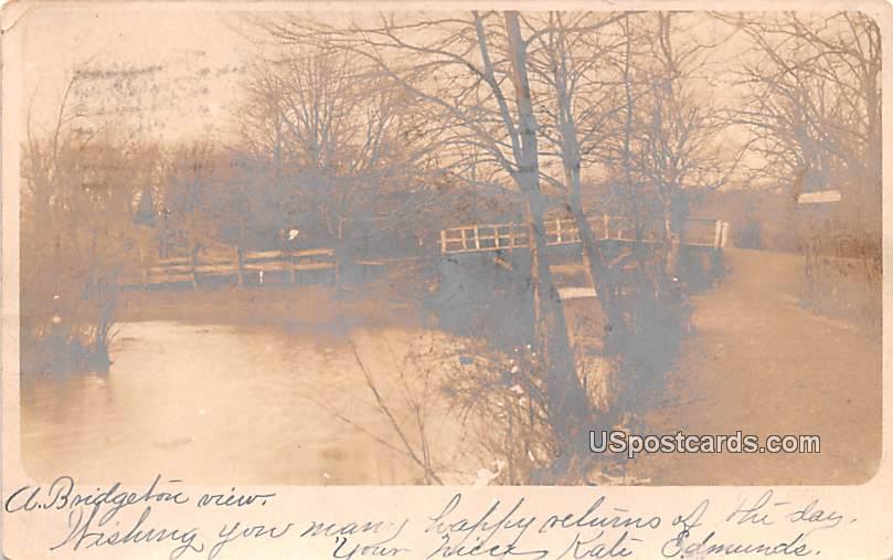 Bridge Over Water - Bridgeton, New Jersey NJ Postcard