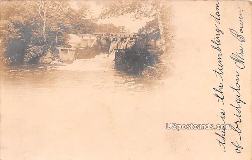 Tumbling Dam - Bridgeton, New Jersey NJ Postcard