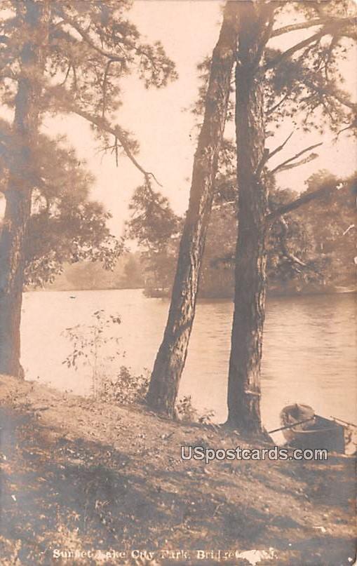 Sunset Lake - Bridgeton, New Jersey NJ Postcard