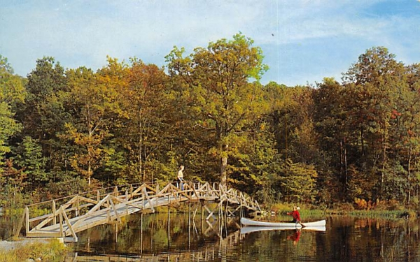 Rainbow Bridge - Lake Wapalanne Branchville, New Jersey Postcard