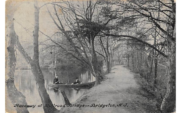 Raceway at Railroad Bridge Bridgeton, New Jersey Postcard