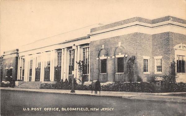 U.S. Post Office Bloomfield, New Jersey Postcard