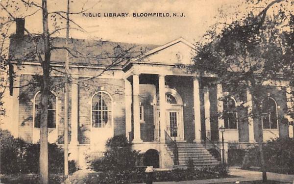 Public Library Bloomfield, New Jersey Postcard