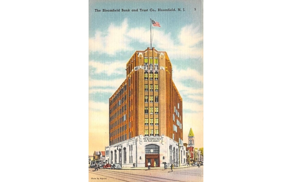 The Bloomfield Bank and Trust Co. New Jersey Postcard