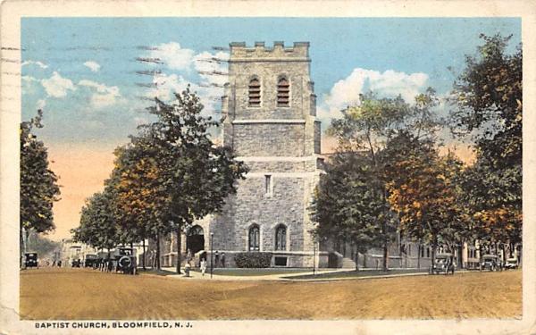 Baptist Church Bloomfield, New Jersey Postcard