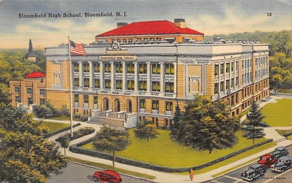 Bloomfield High School New Jersey Postcard