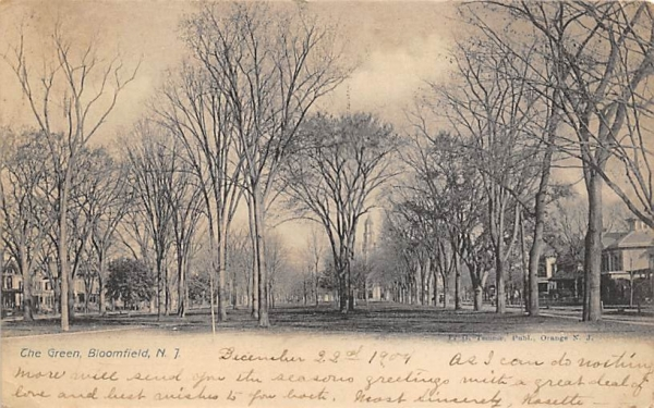 The Green  Bloomfield, New Jersey Postcard