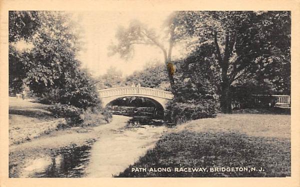 Path Along Raceway Bridgeton, New Jersey Postcard