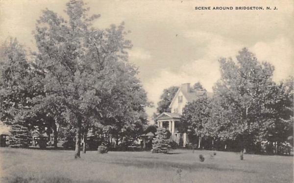 Scene Around Bridgeton New Jersey Postcard