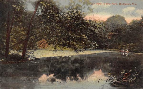 Lily Pond in City Park Bridgeton, New Jersey Postcard