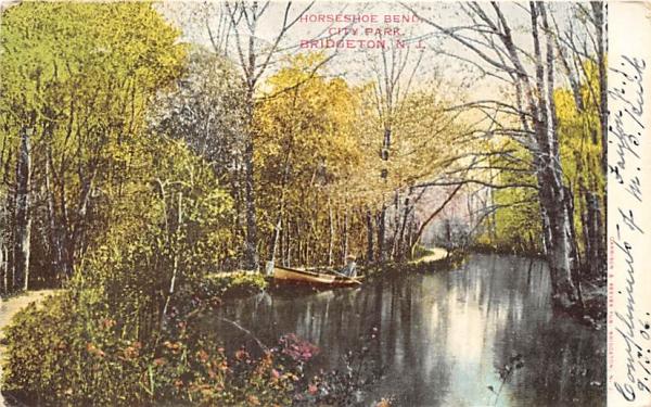 Horseshoe Bend, City Park Bridgeton, New Jersey Postcard