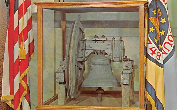 Cumberland County Liberty Bell Bridgeton, New Jersey Postcard