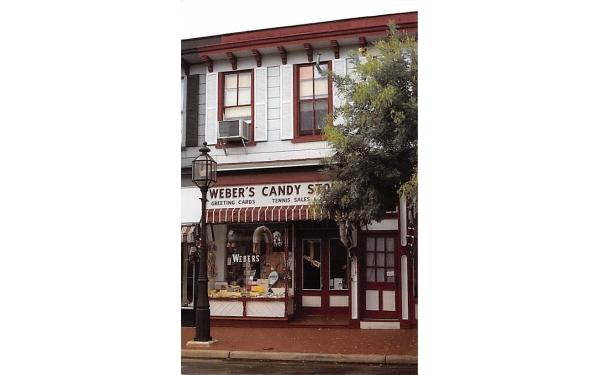 Weber's Candy Store Bridgeton, New Jersey Postcard