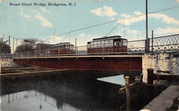 Board Street Bridge Bridgeton, New Jersey Postcard