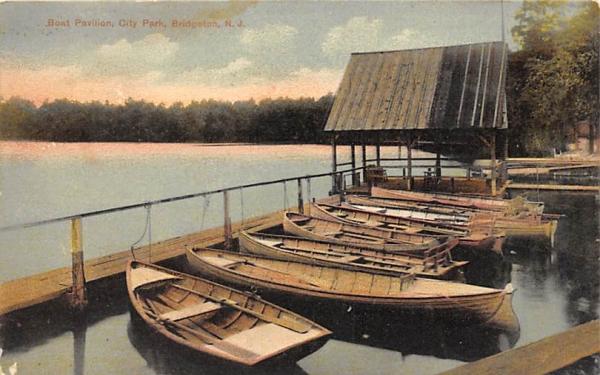 Boat Pavilion, City Park Bridgeton, New Jersey Postcard