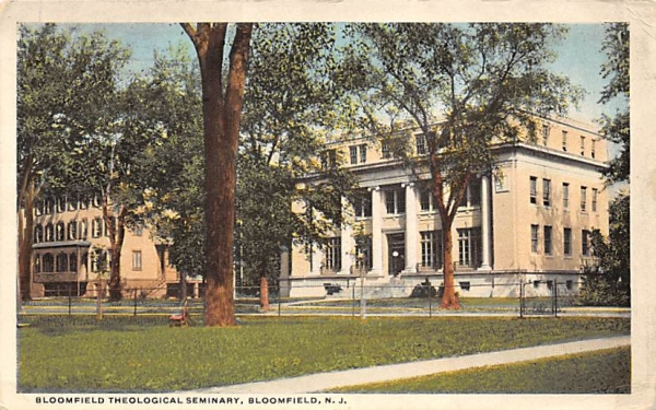 Bloomfield Theological Seminary New Jersey Postcard