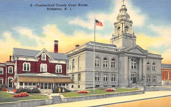 Cumberland County Court House Bridgeton, New Jersey Postcard