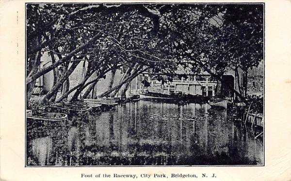 Foot of the Raceway, City Park Bridgeton, New Jersey Postcard