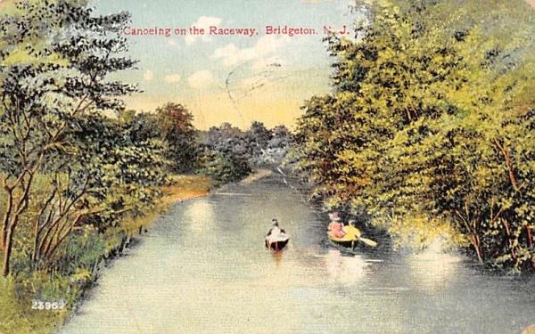 Canoeing on the Raceway Bridgeton, New Jersey Postcard
