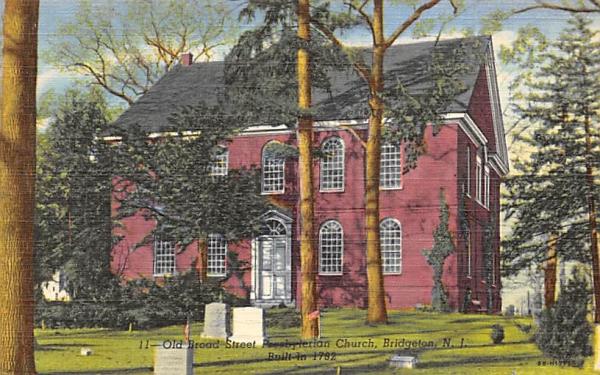 Old Board Steet Presbyterian Chruch Bridgeton, New Jersey Postcard