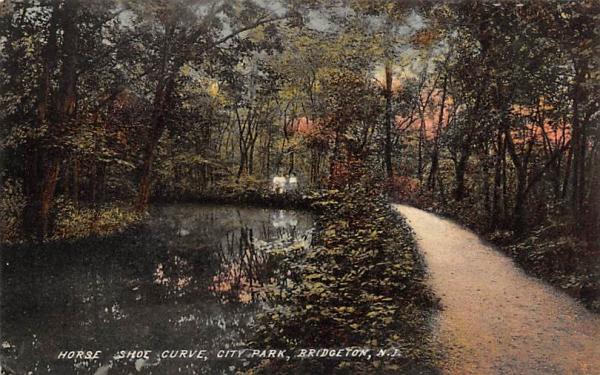 Horse Shoe Curve, City Park Bridgeton, New Jersey Postcard