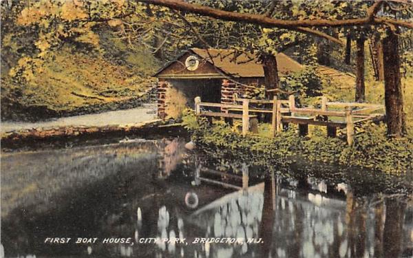 First Boat House, City Park Bridgeton, New Jersey Postcard